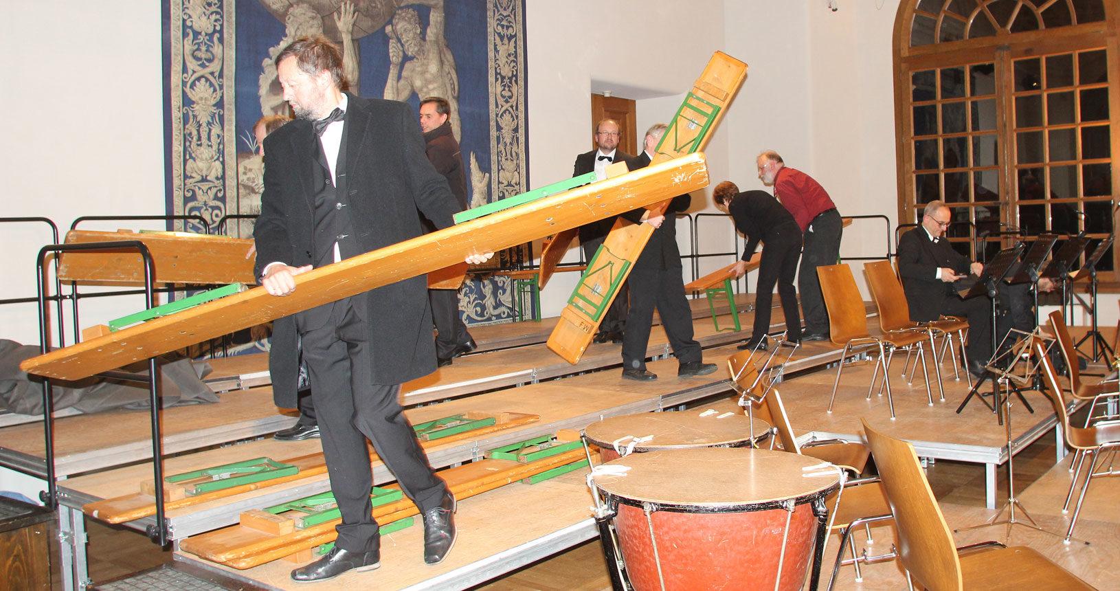 Bühnenbau Konzertchor Dachau