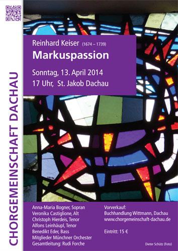 Chorgemeinschaft Dachau Markuspassion Keiser