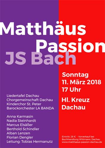 Chorgemeinschaft Dachau Matthäus Passion Bach