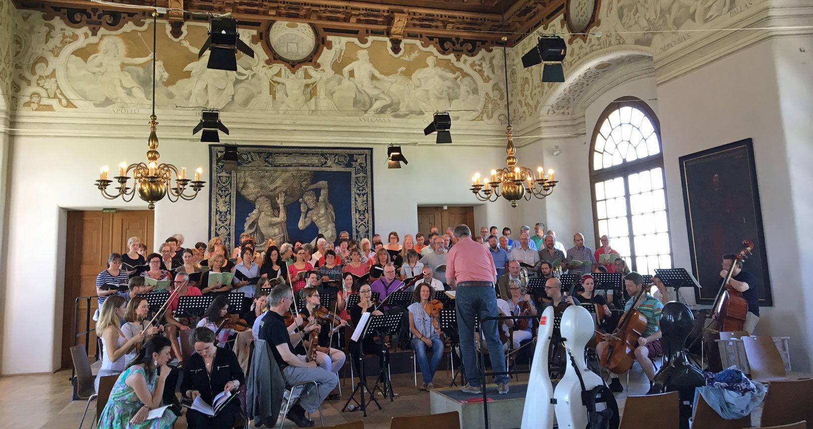 Probe Chorgemeinschaft Dachau im Schloss