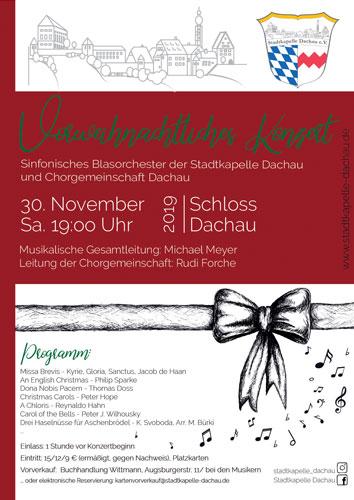 Vorweihnachtliches Konzert Chorgemeinschaft Stadtkapelle Dachau